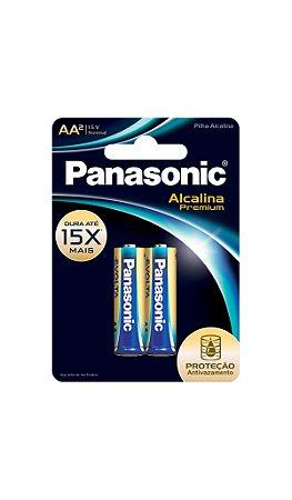 Panasonic Pilha Alcalina Premium AA -  2 Unidades