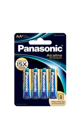 Panasonic Pilha Alcalina Premium AA -  4 Unidades