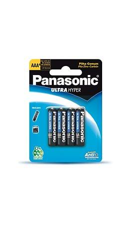 Panasonic Pilha Comum Palito AAA  - 4 Unidades