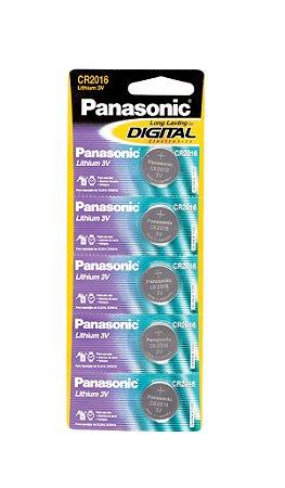 Panasonic Bateria Lithium CR2016 - 5 Unidades