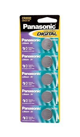 Panasonic Bateria Lithium CR2032 - 5 Unidades