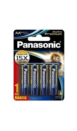 Panasonic Pilha Alcalina Premium AA -  Leve 4 Unidades Pague 3