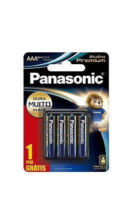 Panasonic Pilha Alcalina Premium AAA - Leve 4 Unidades Pague 3