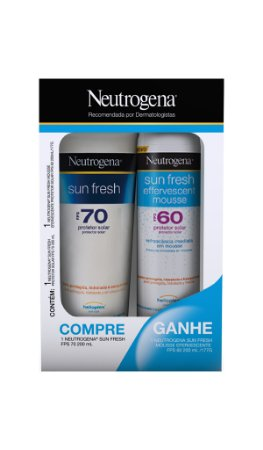 Sun Fresh Protetor Solar Neutrogena FPS 70 + Effervescent Mousse FPS 60