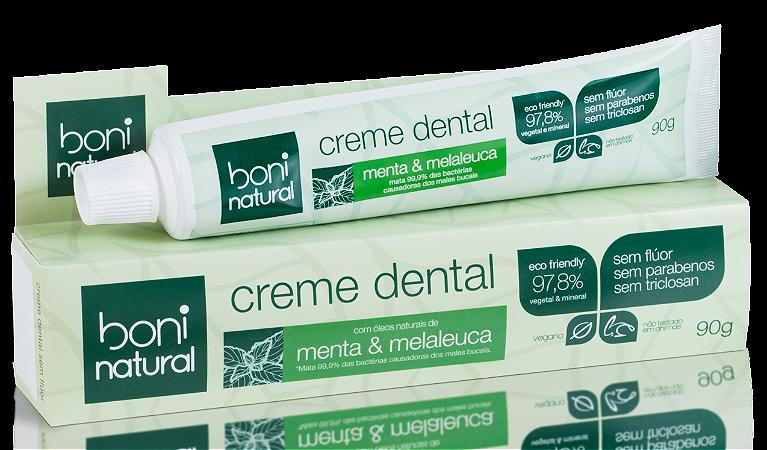 Creme Dental Menta e Melaleuca de Boni Natural - 90g