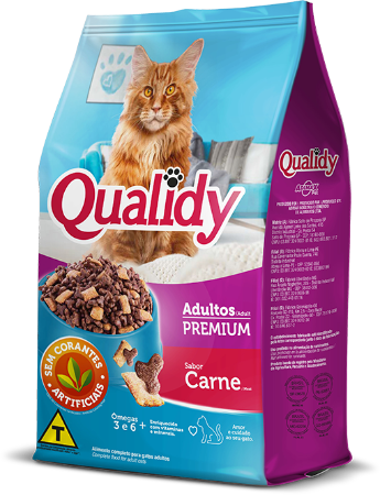 Qualidy Premium Gatos Adultos Sabor Carne 1kg