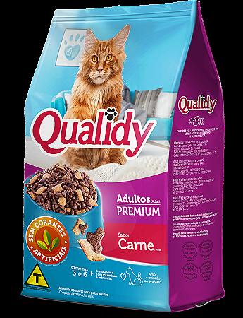 Qualidy Premium Gatos Adultos Sabor Carne 10,1kg