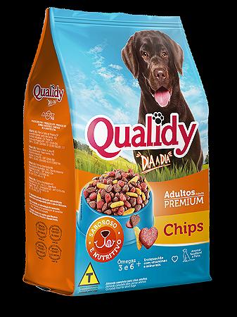 Qualidy Dia a Dia Cães Adultos Sabor Chips 25kg