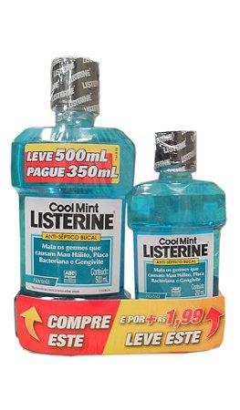 Enxaguatório Bucal Listerine Cool Mint - 500mL + 250mL