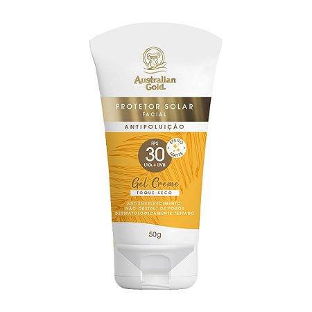 Australian Gold Protetor Solar Facial Gel Creme - FPS 30 50g