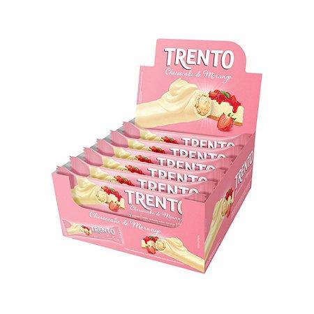 Trento Wafer Cheesecake de Morango Display Com 16un