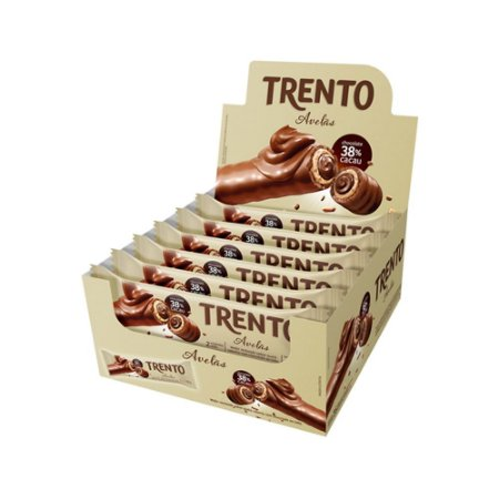 Trento Wafer Avelã Display Com 16un