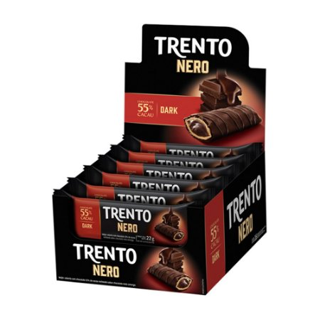 Trento Wafer Nero 55% Cacau Dark Display Com 16un