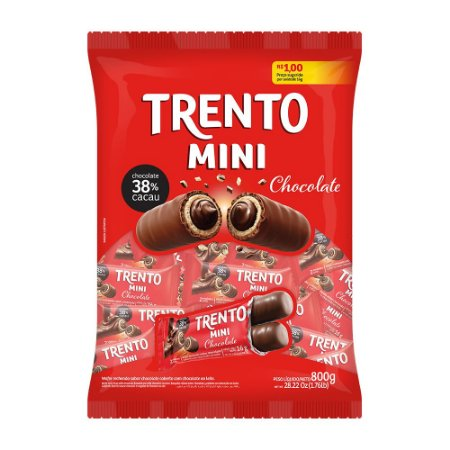 Trento Wafer Mini Chocolate 38% Cacau 800g