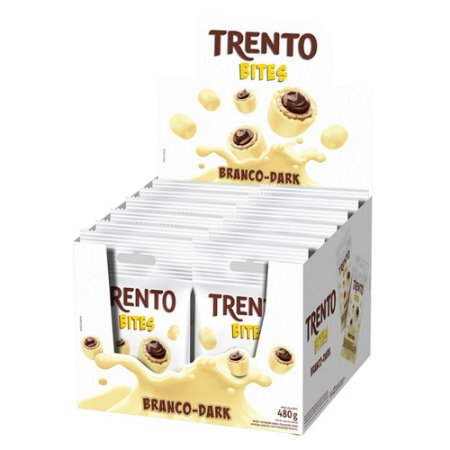 Trento Wafer Bites Branco Dark Display Com 12un