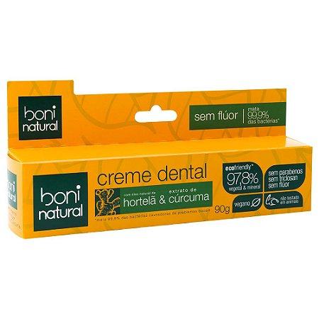 Creme Dental Hortelã e Cúrcuma de Boni Natural - 90g