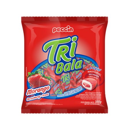 Bala Tribala Morango 100g