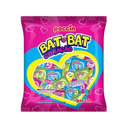 Pirulito Bat Bat Coração Sortido 500g