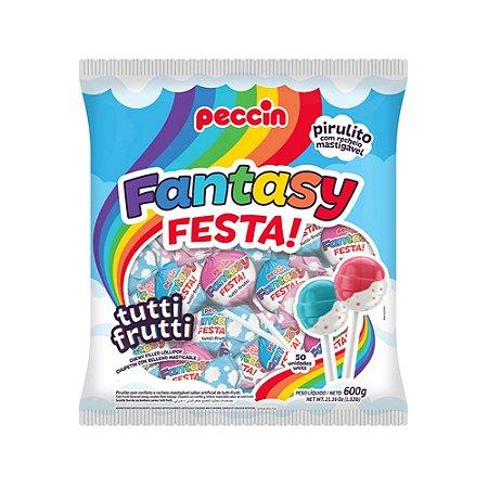 Pirulito Fantasy Festa Tutti-Frutti 600g/50un