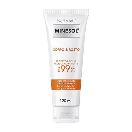 Minesol Neostrata Protetor Solar Corpo E Rosto Fluído Hidratante Antioxidante FPS99 120ml