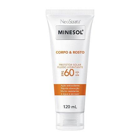 Minesol Neostrata Protetor Solar Corpo E Rosto Fluído Hidratante FPS60 120 ml