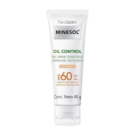 Minesol Neostrata Protetor Solar Oil Control Fluído Com Cor FPS60 40g