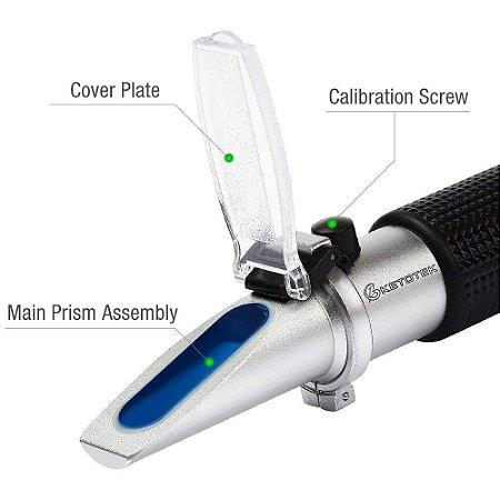 Refratômetro Ótico para Densidade e Brix ATC EZbrew
