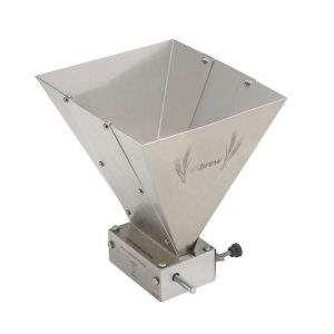 Moedor Moinho de malte 2 rolos funil em aço inox 304 EZbrew