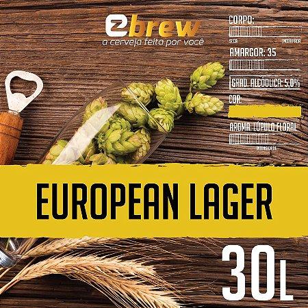 KIT RECEITA EUROPEAN LAGER 30 LITROS