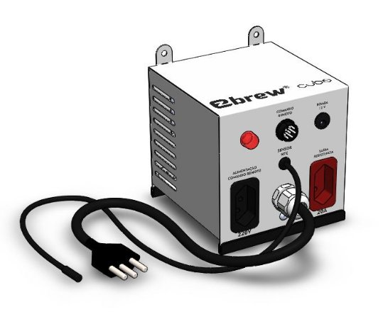 EZbrew CUBO Modulo Potencia para Comando Remoto até 20A (acompanha sensor de temperatura)