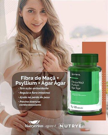 FIBRA DE MAÇA, PSYLLIUM E AGAR AGAR 120 CAPS