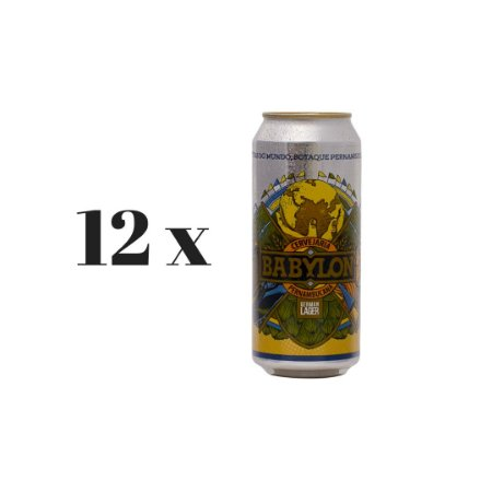 Pack 12 Cervejas Babylon German Lager Lata - 473ml