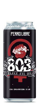 Cerveja Perro Libre 803 Black Rye IPA - 473ml