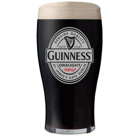 Copo cerveja Guinness Draught Vintage cinza - 450ml