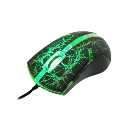 Mouse Gamer Wired 3200 DPI USB 6 Botões Green