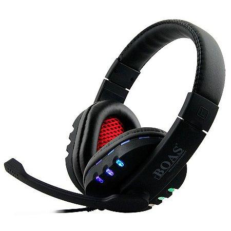 HeadSet Gamer Boas BQ-9700 USB com Led