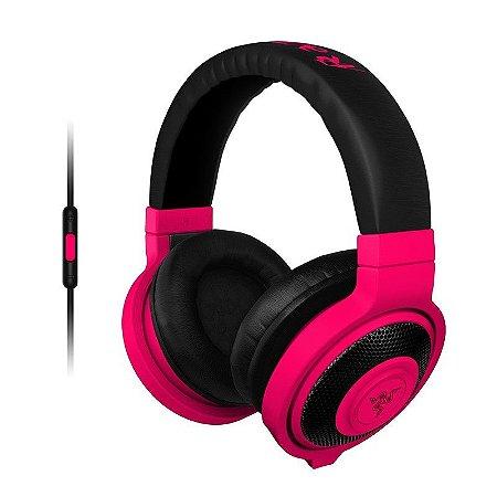 Headset Gamer Razer Kraken Pro Neon Red Mobile - RZ04-01400300-R3U1