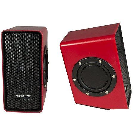 Caixa de Som Gamer TecDrive Eletro7 2.0 10W - CX-10