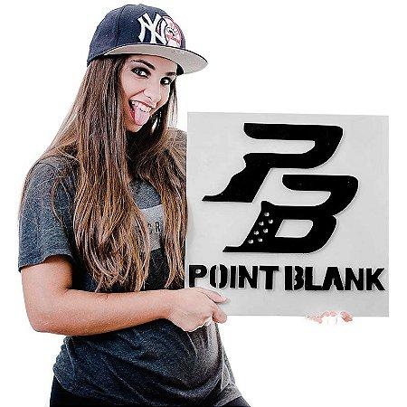 Quadro Decorativo Gamer Point Blank Icone PB em Mdf Alto Relevo 40 x 40 cm