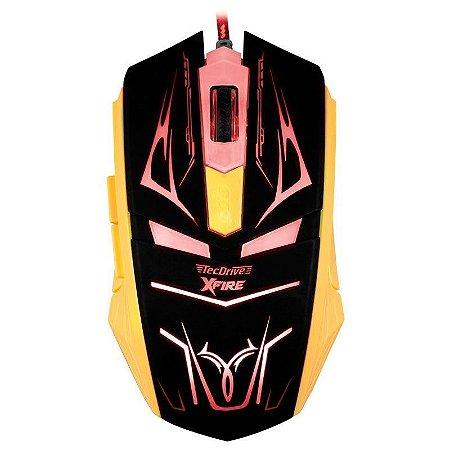 Mouse Gamer TecDrive XFire Neith 3200 DPI 7 Botões - Vermelho