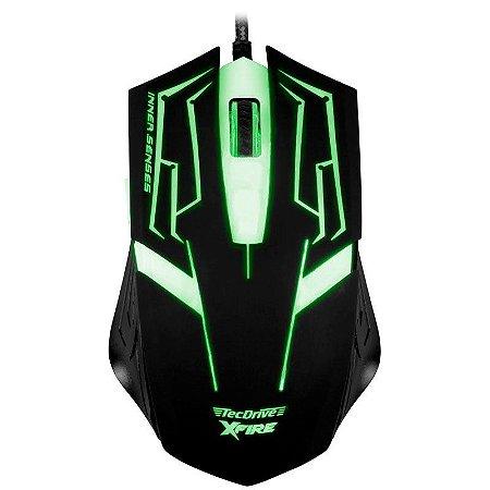 Mouse Gamer TecDrive XFire Skanda 3200 DPI 7 Botões - Verde