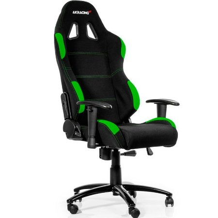 Cadeira Gamer AKRacing K701B Black Green AK-K7012-BG
