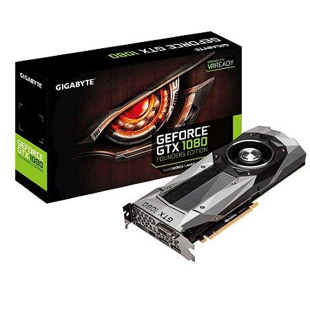 Placa de Vídeo Gamer GigaByte GTX 1080 8GB GDDR5X 256Bits PCI-Express 3.0 GV-N1080D5X-8GD-B