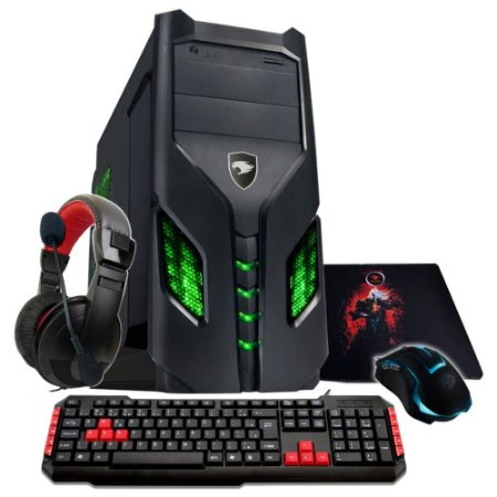 Computador Gamer G-Fire Cerberus GKX AMD A10 7860K 8GB 2133Mhz 1TB HDMI USB 3.0 PV Radeon R7 2GB Linux HTAVA-86