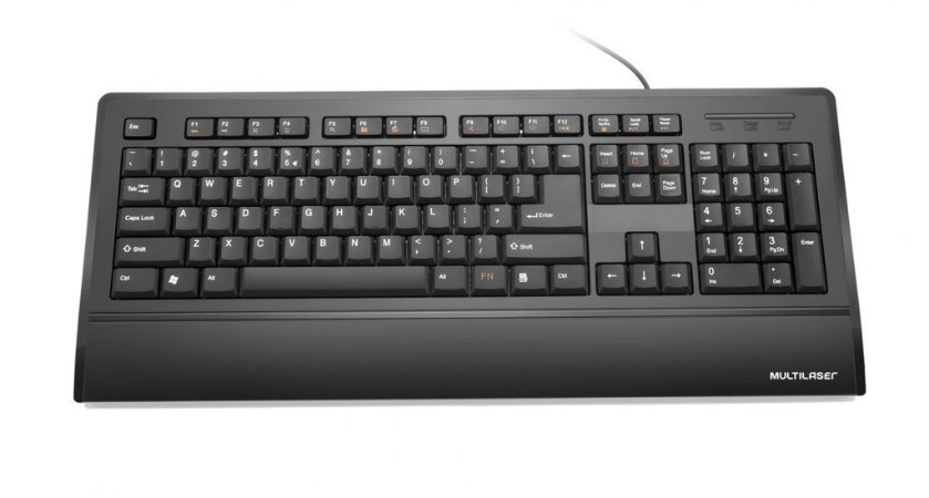 Multilaser Teclado Multimídia Slim TC128