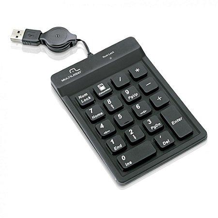 Teclado Multilaser Numérico USB Preto TC096