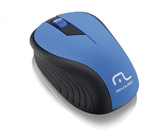 Multilaser Mouse sem Fio 2.4GHz 1200dpi MO215 Preto/Azul
