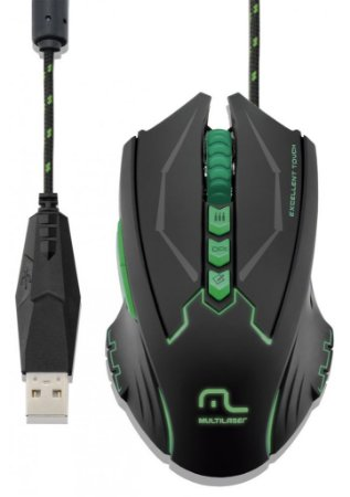 Multilaser Mouse Gamer Metal War 8 Botões 2500dpi USB com LED MO218