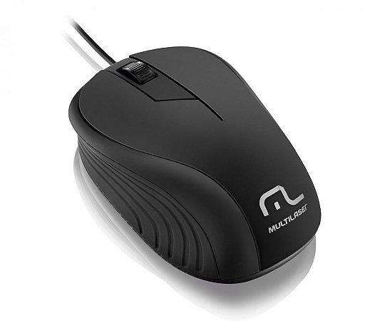 Multilaser Mouse Emborrachado Preto - MO222