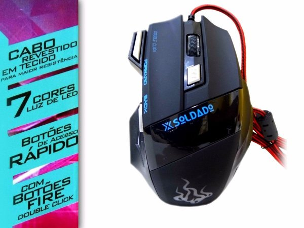MOUSE GAMER USB 7D EXTREME 3000 DPI GM-700
